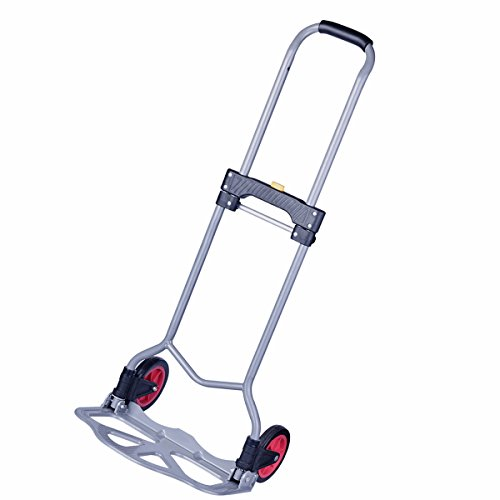 Luggage Cart, Folding Hand Truck Dolly Portable Lightweight Steel 150 lbs (Mover Folding Hand Truck)