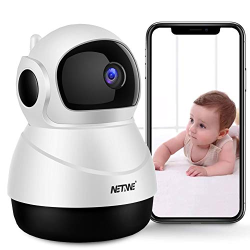WiFi IP Camera 1080P Wireless Security Camera Indoor Home IP Camera Baby Pet Monitor Indoor Dome Camera with Night Vision, 2-Way Audio, Motion Detection and Cloud Storage Support 2.4G WiFi White