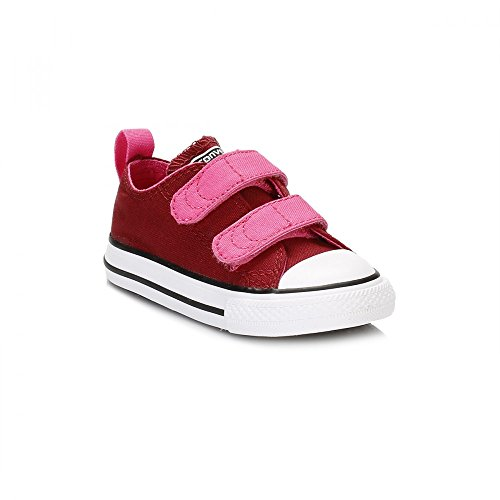 Converse , Baskets mode pour fille rouge Red