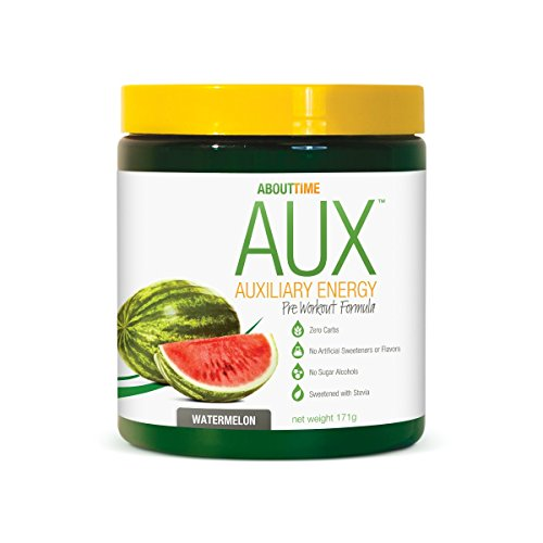 - About Time Auxiliary 2.0 Pre Workout Powder, Watermelon, 177 Grams