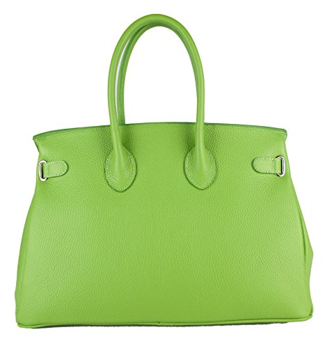 Made In Dames En Fg Sac Man Vert Cuir Quality A High Italy wHHqT0Y