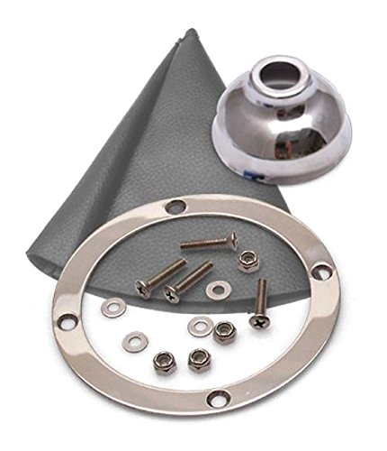 American Shifter 368945 Shifter 90416 Trim Kit CHR Dual Shift Cap Gry Boot Ringed Knob for CE627