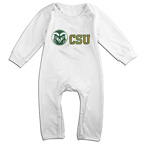 Price comparison product image OOKOO Baby's Colorado State University Rams Bodysuits Outfits White 12 Months