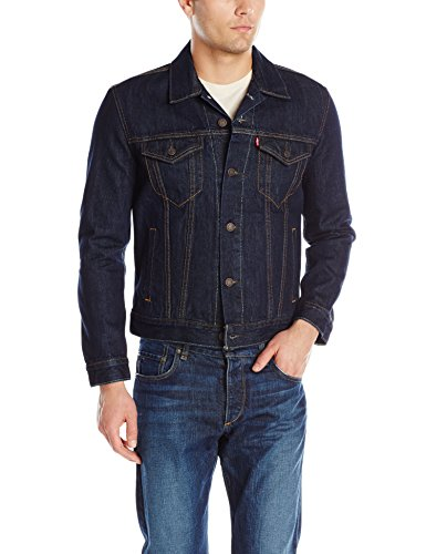 Levi's Men's The Trucker Jacket, Rinse, Large