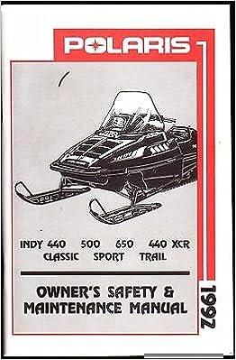 1992 Polaris Indy 440 500 650 440 Xcr Sport Trail Owners Manual New 933 Polaris Amazon Com Books