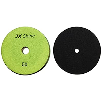 Cobra 5fpdset-jx 5-Inch JX Shine Diamond Polishing Pad for Granite Black Buff with Back holder, Set of 8: Home Improvement