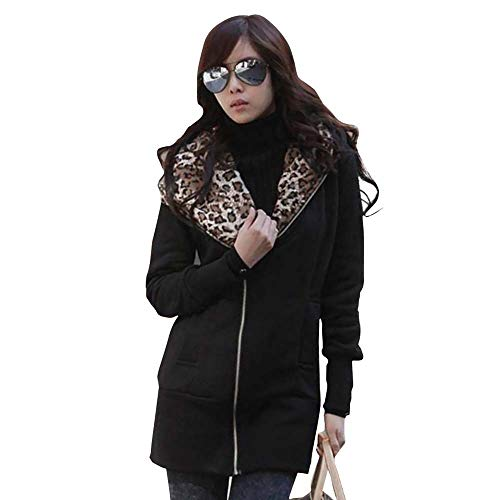 TnaIolr Women Warm Coat Women's Leopard Print Long