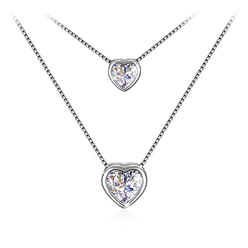 Heart Necklace, Sterling Silver Pendant Necklace J.Rosée Fine Jewelry