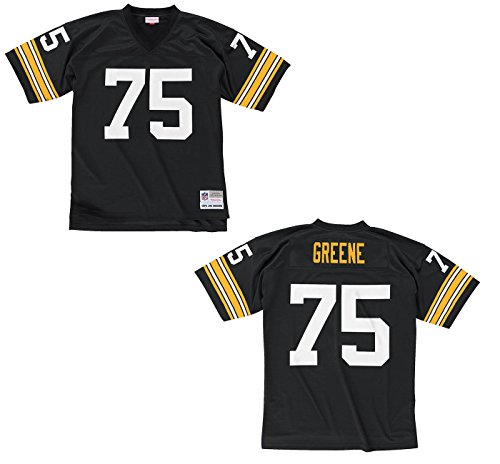 Mitchell & Ness Joe Greene Pittsburgh Steelers Black Throwback Jersey Large