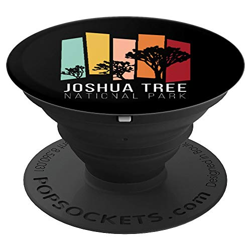 Joshua Tree California Desert Vintage Retro Camping Landers PopSockets Grip and Stand for Phones and Tablets