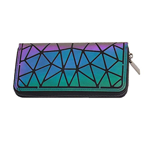 Used, Magibag Women Geometric Rhomboids Lattice Wallet Iridescent for sale  Delivered anywhere in USA