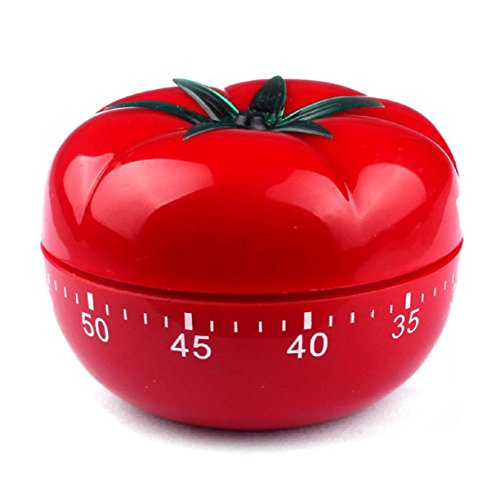 Tomatoes Timers, RIUDA Tomatoes 60 minutes mechanical Count Down Kitchen Cooking Time Alarm - Tomato Cube