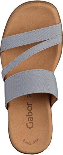 GABOR - Damen Pantoletten - Grau Schuhe in Übergrößen