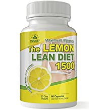 The Lemon Lean Diet - Maximum Potency 1500mg Advanced Weight Loss Support 60 Capsules