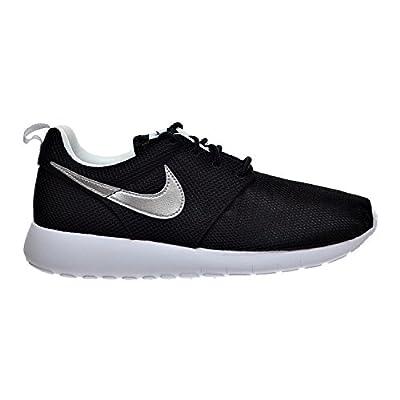 Nike Air Roshe One (GS) Big Kid's Shoes Black/Metallic Silver/White 599728-021 (4 M US)