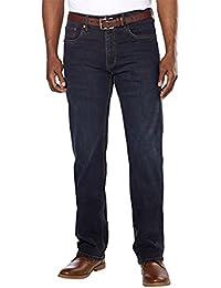 Men's Relaxed Fit Straight Leg Jeans, Dark Midnight 32x32