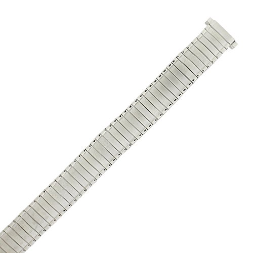 Tech Swiss TSMET356 Watch Band Expansion Ladies Silver-Tone 12mm- 14mm