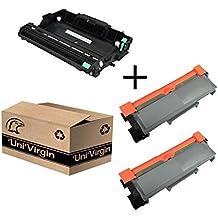 Compatible TN-660 TN660 Toner Cartridge & DR630 Drum Replacement for Brother HL-2340DW HL-L2300D HL-L2360DW DCP-L2540DW DCP-L2520DW MFC-L2700DW MFC-L2740DW by UniVirgin (2 x Toner & 1 x Drum)