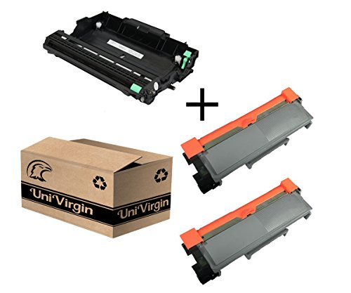 Compatible TN-660 TN660 Toner Cartridge & DR630 Drum Replacement for Brother HL-2340DW HL-L2300D HL-L2360DW DCP-L2540DW DCP-L2520DW MFC-L2700DW MFC-L2740DW by UniVirgin (2 x Toner & 1 x Drum) by UniVirgin