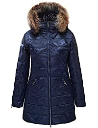 Annabelle Down Coat with Real Fur Womens