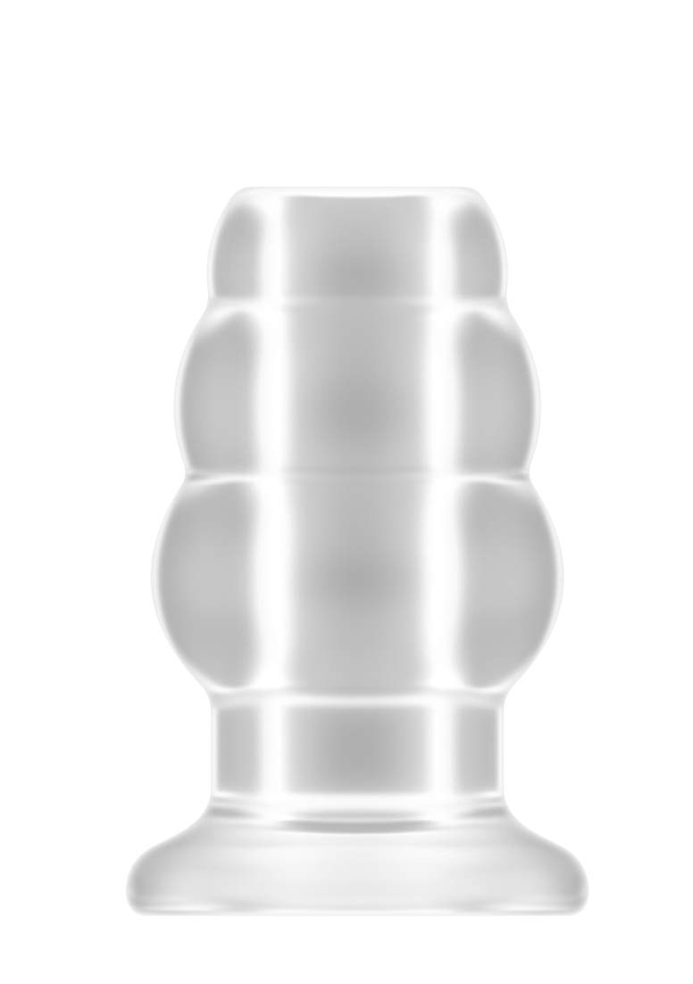 Number 50 Medium Hollow Tunnel Butt Plug 4 Inch Translucent