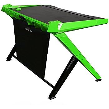 DXRacer DGD/1000/NE Newedge Edition gaming desktop office desk computer desks pc desk gaming table Ergonomic Comfortable Desk (Black/Green)