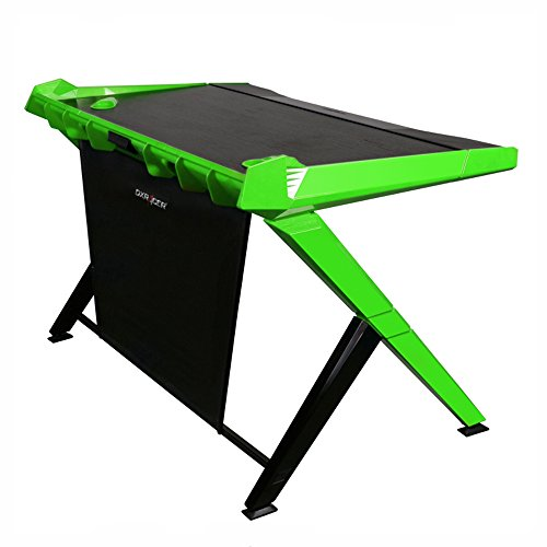DXRacer DGD/1000/NE Newedge Edition gaming desktop office desk computer desks pc desk gaming table Ergonomic Comfortable Desk (Black/Green)