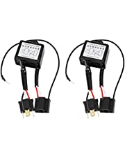 KIMISS 2PCS Alloy Reversed Polarity,LED Negative Converter Polar Negative Switch Harness Adaptor Reversed Polarity for H4