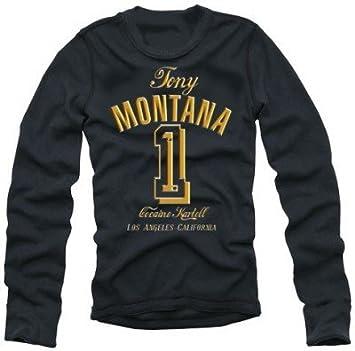 info for bf54c d103e TONY MONTANA NR.1 black / GOLD longsleeve t-shirt: Amazon.co ...