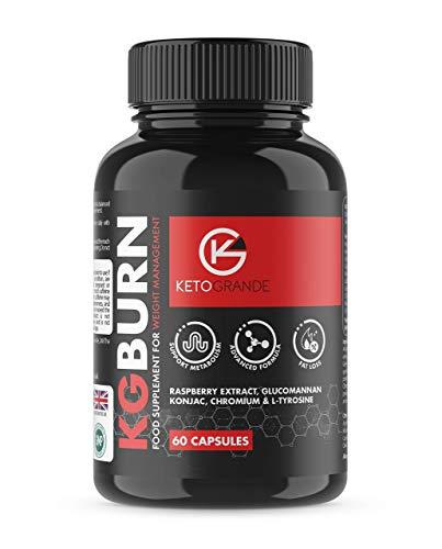Fat Burner Maximum Fat Burn by Keto Grande High Strength Premium Formula 10x Natural Active Ingredients 60 Veg Capsules…