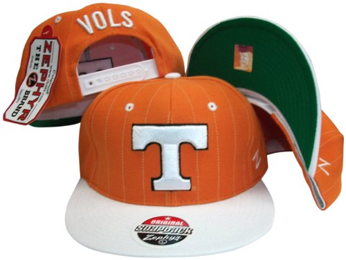 ZHATS Tennessee Volunteers Pinstripe Orange/White Snap Back Hat/Cap (Pins Volunteers Tennessee)