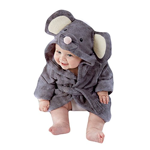Tkria Baby Mädchen Jungen Kleinkind Säugling Bademäntel Morgenmante Kapuze Schlafanzüge Badetuch Flanell Fleece Für Kinder 1 2 3 4 5 Jahr