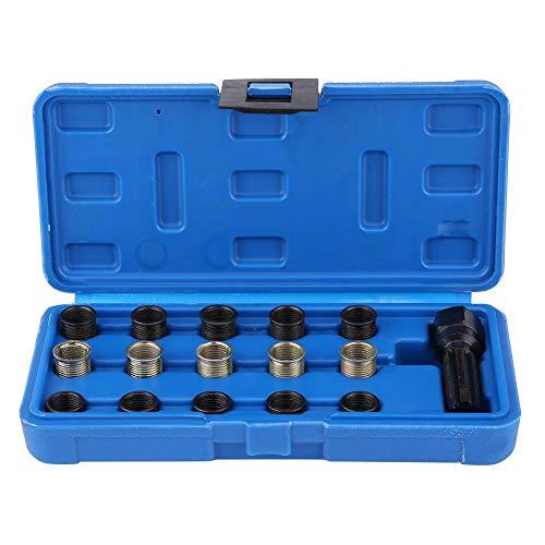 Spark Plug Thread Repair Tools, 16Pcs 14mm x 1.25 Spark Plug Thread Repair Tool Kit M16 Tap W/Portable Case ()