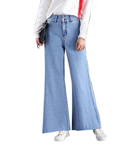 Pantalones Mezclilla Rectas Zarco Alta De Pantalon Mujer Anchos Cintura Vaqueros Vaqueros Suelto Elástico Boyfriend dxPcHp