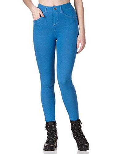 Regna X with Pocket high Waist Denim high Rise Zipper Blue Jeggings for Women S