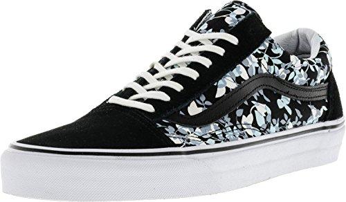 Vans Old Skool (reverse Floral) Uomo Skateboarding-shoes Uomo 8.5 Donna 10.0 Nero / Bianco Vero