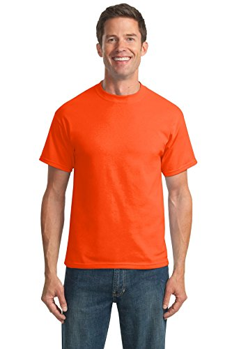 port-company-mens-tall-50-50-cotton-poly-t-shirts-4xlt-safety-orange