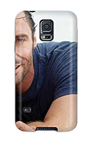 Hot Style DPdmAbd604JoZFj Protective Case Cover For Galaxys5(men Male Celebrity Hugh Jackman On The Beach8722 ) by icecream design