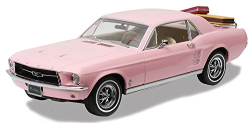 [1967 Ford Mustang Coupe Pink with Removable Luggage 1/18 by Greenlight 12966] (1967 Ford Mustang Coupe)