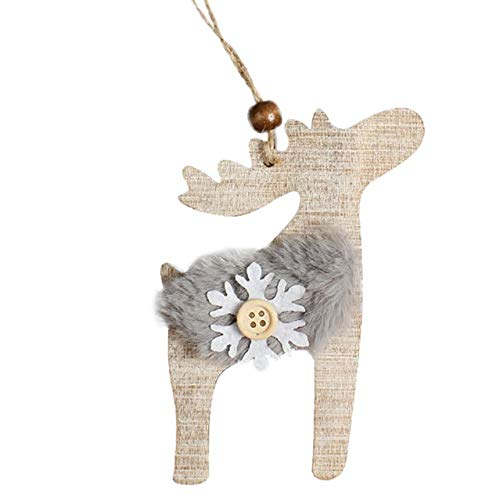 VADOLY Wooden Christmas Embellishments Rustic Christmas Tree Decor Hanging Ornament Christmas Decorations for Home