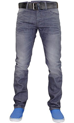 Gris vaquero Slim Hombres Denim Claro Fit Wayne Crosshatch YBqqxwO1