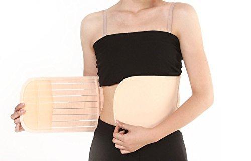 Elandy Breathable Postnatal Pregnancy Maternity Supportive Belt Abdomen Abdominal Binder for Women Postpartum -Stripe Syle (L)