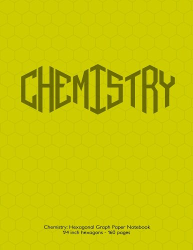 Chemistry-Hexagonal-Graph-Paper-Notebook-14-inch-hexagons-160-pages-Notebook-with-yellow-cover-14-inch-hexagons-ideal-for-chemistry-notes-and--design-mapping-sketches-math-notes-etc