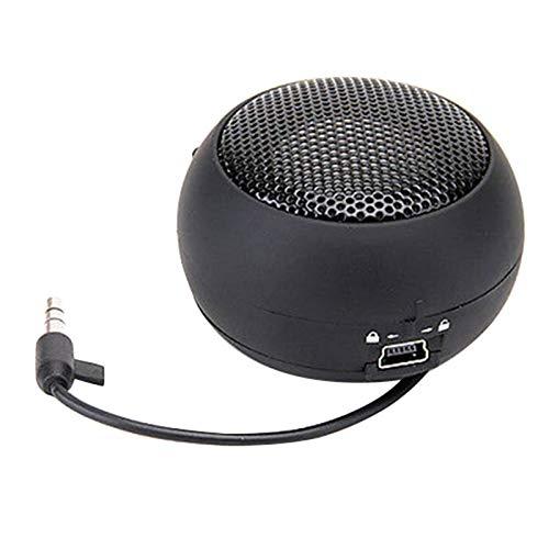 XNJTEQAQ Mini Portable Hamburger Speaker Amplifier for iPod Ipad Laptop for iPhone Tablet PC Black