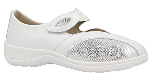 Varomed Women's Sienna Shoes 79251 70 Ballerina, Rehabilitation shoes slippers Therapieschuhe White