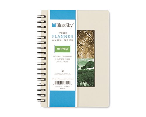 "Blue Sky 2018 Monthly Planner, Twin-Wire Binding, 4"" x 6"", Seasons -  Blue Sky the Color of Imagination, LLC, 103701"