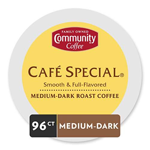 Community Coffee Medium-Dark Roast Single Serve Coffee Pods, Café Special, 96 Count