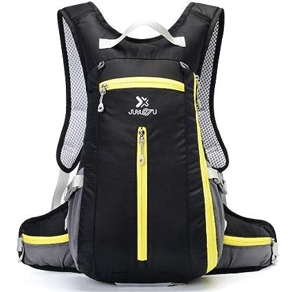 DeFe Mochila Hidratacion con 1.5L Bolsa de Agua, 5L Pack Mochila Trail Running para
