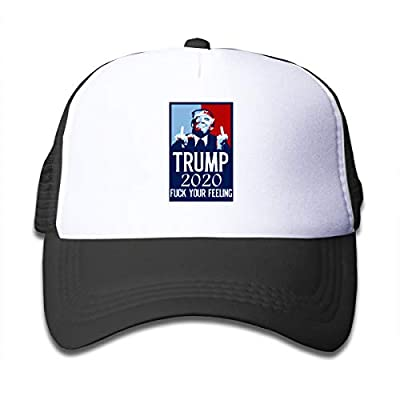M-shop Funny Trump 2020 Fuck Your Feelings Cap,Children's Trucker Hats