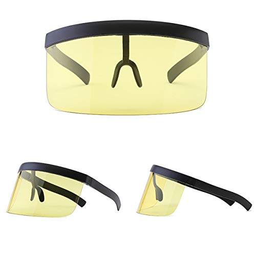 Gafas de de protección UV de de Amarillo de Gafas antipi de Nuevas Mujer Grandes Sol Sol Sol Unisex Gafas Súper VORCOOL Sol Gafas UV wvSPFWq